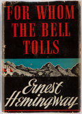 Books:Literature 1900-up, Ernest Hemingway. For Whom the Bell Tolls. New York: CharlesScribner's Sons, 1940. First edition, first printing, w...