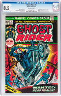 Bronze Age (1970-1979):Horror, Ghost Rider #1 (Marvel, 1973) CGC VF+ 8.5 Off-white pages....