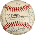 Baseball Collectibles:Balls, 1951 American League All-Star Team Signed Baseball....