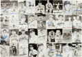 Autographs:Post Cards, 1940's-60's Signed Rowe Postcards Lot of 36....