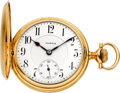 Timepieces:Pocket (post 1900), Illinois Very Rare Diamond, Ruby & Sapphire Grade 310 GoldHunters Case, circa 1912. ...