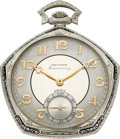 Timepieces:Pocket (post 1900), Gruen Very Fine Fiftieth Anniversary Watch, circa 1924. ...