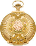 Timepieces:Pocket (post 1900), Waltham Gold Multicolor Box Hinge 23 Jewel 16 Size RiversideMaximus, circa 1902. ...
