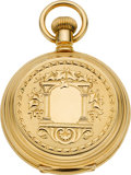 Timepieces:Pocket (pre 1900) , Waltham Mint 18k Gold 18 Size Hunters Case, circa 1881. ...