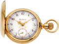 Timepieces:Pocket (pre 1900) , Rockford Heavy Gold 18 Size Two Tone With Rare Fancy Dial, circa 1900. ...