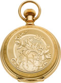 Timepieces:Pocket (post 1900), Hampden Mint Gold 23 Jewel Two Tone Special Railway Hunters Case,circa 1901. ...