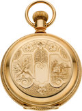 Timepieces:Pocket (pre 1900) , Waltham Very Fine Gold Model 83 Hunters Case, circa 1890. ...