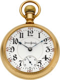 Timepieces:Pocket (post 1900), Illinois Very Rare Gold 26 Ruby Jewel 18 Size Bunn Special, circa1905. ...