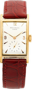 Timepieces:Wristwatch, Patek Philippe & Co. Vintage Rectangular Wristwatch In CustomCase. ...