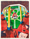 Prints:Contemporary, DAVID HOCKNEY (British, b. 1937). View of Hotel Well III(from the Moving Focus series), 1984-85. Lithograph incolo...