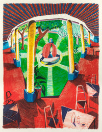 DAVID HOCKNEY (British, b. 1937) View of Hotel Well III (from the Moving Focus series), 1984