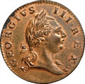 Colonials, 1773 1/2P Virginia Halfpenny, No Period MS64 Red and Brown NGC. N. 5-B, W-1410, R.6. ...