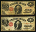 Fr. 37 $1 1917 Legal Tender Very Good Two Examples