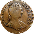 Colonials, 1787 COPPER Connecticut Copper, Mailed Bust Right, Small Head, ETLIB INDE VF35 NGC. M. 1.1-A, W-2700, R.3. ...