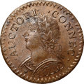 Colonials, 1787 COPPER Connecticut Copper, Mailed Bust Left, Laughing Head MS65 Brown NGC M. 6.1-M, W-2820, R.1. ...