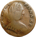 Colonials, 1788 COPPER Connecticut Copper, Mailed Bust Right, Small Head Right Fine 12 NGC. M. 1-I, W-4400, R.5. ...
