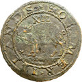 Colonials, (1615-6) SHILNG Sommer Islands Shilling, Small Sails AU55 NGC. Encyclopedia-1, BMA Type Two, W-1...