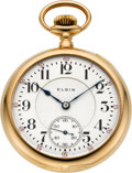 Timepieces:Pocket (post 1900), Elgin Rare Lord Elgin 23 Jewel Gold 16 Size Grade 351, circa 1907....