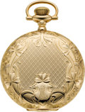 "Timepieces:Pocket (post 1900), Illinois Gold 21 Jewel ""Getty"" Model 4 Two Tone Grade 179, circa1898. ..."