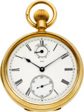 Timepieces:Pocket (pre 1900) , Victor Kullberg Gold Cased Keyless Lever Fusee With Wind Indicator,circa 1882. ...