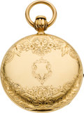 Timepieces:Pocket (pre 1900) , E. Howard & Co. Boston Series III Gold Hunters Case, circa1866. ...