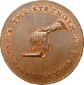 Colonials, (1792-94) TOKEN Kentucky Token, Engrailed Edge MS65 Red and Brown NGC. Breen-1162, W-8805, R.6. ...