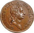 Colonials, 1722 1/2P Hibernia Halfpenny, Type Two, Harp Right MS64 Brown NGC.Martin 3.3-C.1, W-12810, R.5. ...