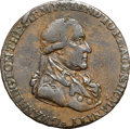 Colonials, 1795 1/2P Washington Grate Halfpenny, Large Buttons, Lettered Edge VF35 NGC. Baker-29, W-10990, R.6. ...