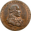 Colonials, 1795 1/2P Washington Grate Halfpenny, Large Buttons, Lettered Edge MS63 Red and Brown NGC. Baker-29, W-10990, R.6. ...