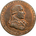 Colonials, 1795 1/2P Washington Grate Halfpenny, Large Buttons, Reeded Edge MS63 Red and Brown NGC. Baker-29B, W-10955, R.1. ...