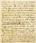 "Autographs:Statesmen, Robert Morris Autograph Letter Signed ""Robt Morris,"" fourfull pages, 7.25"" x 8.75"". Richmond, December 15, 1787. To his...(Total: 1 Item)"