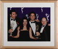 "Movie/TV Memorabilia:Photos, ""Seinfeld"" Framed Cast Photo. A color 19"" x 15"" photo of the castof Seinfeld at the Emmy Awards, matted and framed to a...(Total: 1 Item)"