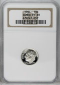 Proof Roosevelt Dimes: , 1964 10C PR69 Cameo NGC. NGC Census: (335/0). PCGS Population(288/1). Numismedia Wsl. Price: $45.(#85239)...
