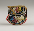 American Indian Art:Beadwork, AN IROQUOIS BEADED CLOTH POUCH. . c. 1900...