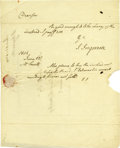 "Autographs:Statesmen, Jared Ingersoll Autograph Letter Signed ""J. Ingersoll,""half-page, 7.75"" x 9.75"". [Philadelphia], June 12, 1804. Address...(Total: 1 Item)"