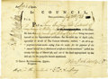 """Autographs:Statesmen, John Dickinson Partly Printed Document Signed """"John DickinsonP."""" as President of Pennsylvania, one page, 8.25"""" x 6"""". In...(Total: 1 Item)"""