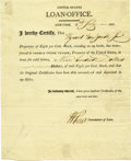 """Autographs:Statesmen, William Few Partly Printed Document Signed """"W Few"""" asCommissioner of Loans, one page, 7.75"""" x 9.5"""". New York, July 2,1... (Total: 1 Item)"""