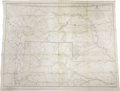 """Military & Patriotic:Indian Wars, AN IMPORTANT MILITARY MAP OF THE YELLOWSTONE AND MISSOURI RIVERS1876. 33"""" x 42 1/2"""". This detailed military map was an ... (Total:1 Item)"""