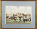 """Western Expansion:Cowboy, LITHOGRAPH """"CUSTERS LAST STAND""""- 1876. This Werner lithograph ofCuster's Last Stand at the """"Battle of Little Big Horn"""" was ..."""