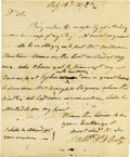 """Autographs:Military Figures, Anthony White Autograph Letter Signed """"Anthy W. White,"""" one page, 7.25"""" x 8.75"""". [Savannah, Georgia], July 18, 1782. Int..."""