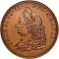 Betts Medals, 1757 George II, American Indian Peace Medal Restrike, MS65 BrownNGC. Betts-401, Eimer-654, Julian IP-49. ...