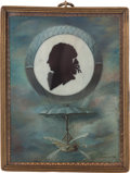 Antiques:Decorative Americana, Historic Souvenir Miniature Silhouette of Jean Pierre Blanchard....