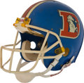 Football Collectibles:Uniforms, 1986 John Elway Game Worn Denver Broncos Helmet....