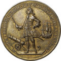 Betts Medals, 1739 Admiral Vernon Medal, Porto Bello, AU55 NGC. Betts-222, AdamsPBvi 5-F, R.5.. ...