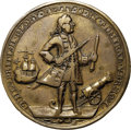 Betts Medals, 1739 Admiral Vernon Medal, Porto Bello, XF40 NGC. Betts-238, AdamsPBvi 11-P, R.6.. ...
