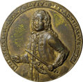 Betts Medals, 1739 Admiral Vernon Medal, Porto Bello, AU50 NGC. Betts-200, AdamsPBv 22-S, R.5....