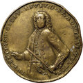 Betts Medals, 1739 Admiral Vernon Medal, Porto Bello, -- Rim Damage -- NGCDetails. XF. Betts-198, Adams PBv 42-RR, R.5....