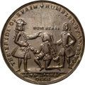 Betts Medals, 1741 Admiral Vernon Medal, Cartagena, AU58 NGC. Betts-Unlisted,Adams CAvlo 1-B, R.5.. ...