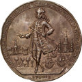 Betts Medals, 1741 Admiral Vernon Medal, Cartagena, -- Rev Scratched -- NGCDetails. Unc. Betts-334, Adams CAv 6-G, R.4.. ...