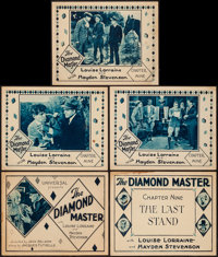 "The Diamond Master (Universal, 1929). Title Lobby Cards (2) & Lobby Cards (3) (11"" X 14"") Chapter 9 -- &qu..."